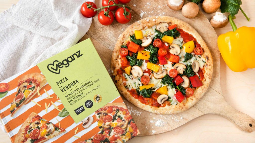 Veganz Pizza Verdura The Vegetable Pizza With The Vegan Cheese Alternative