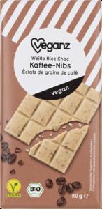 Weiße Rice Choc Kaffe-Nibs von Veganz