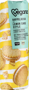 Product picture Organic Veganz Doppelkeks Lemon Cake Style Sandwich Biscuits