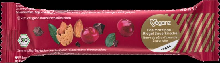 Edelmarzipan-Riegel Sauerkirsche von Veganz