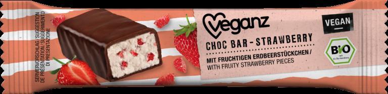 Choc Bar Strawberry von Veganz